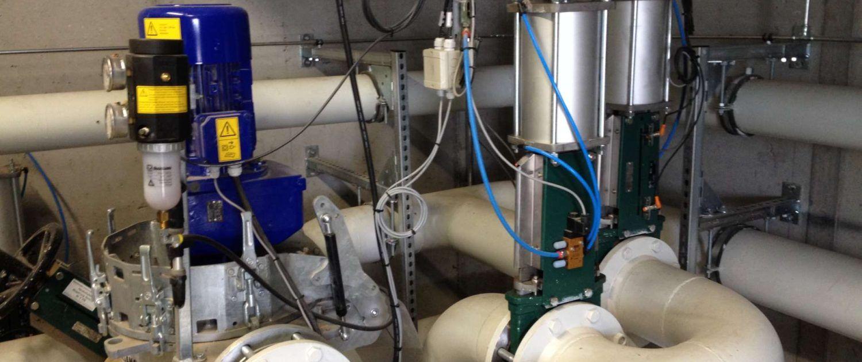 Stoffschieber Biogasanlage